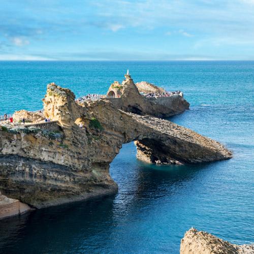 La Côte des Basques : de Biarritz à Saint Jean de Luz.