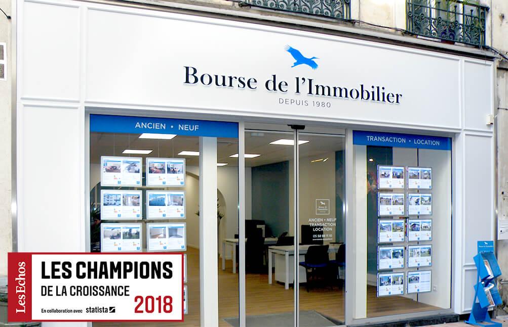 >La Bourse de l'Immobilier champion de la croissance 2018 !