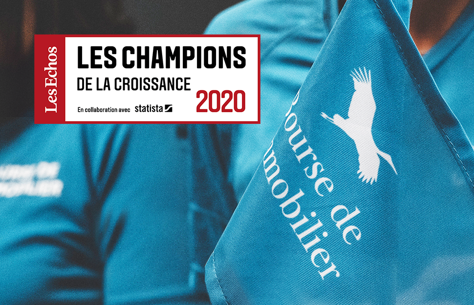 >La Bourse de l'Immobilier Champion de la Croissance 2020