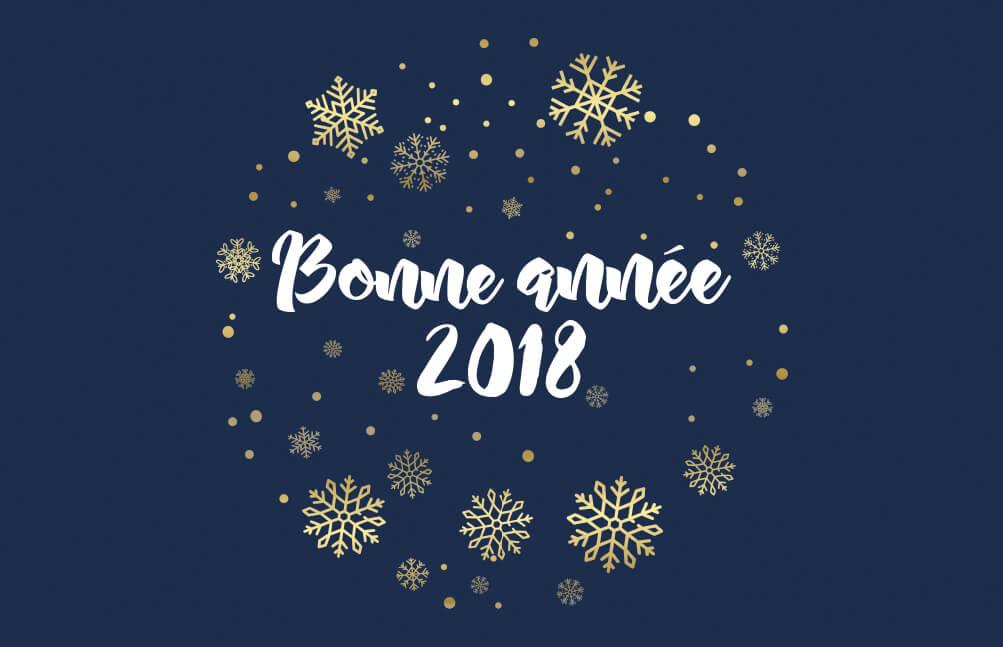 >Nos meilleurs voeux pour 2018 !